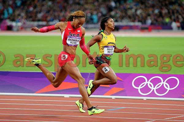 Fraser Pryce (JAM),Sanya Richards-Ross (USA)