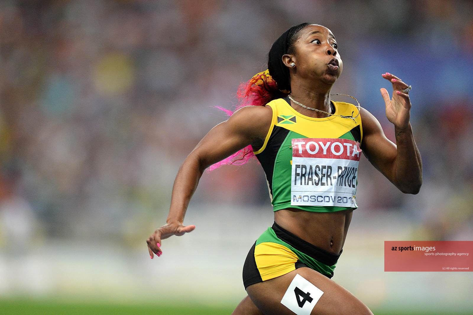 Jamaican Fraser Pryce  the new World Champion 2013