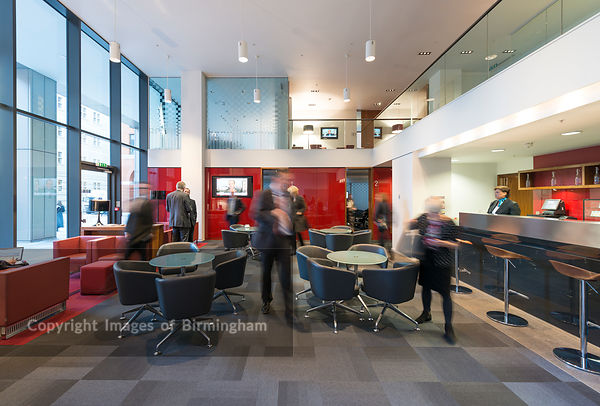 The business lounge at 11 Brindleyplace.