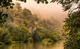 Autumn mist in Water-cum-Jolly-Dale