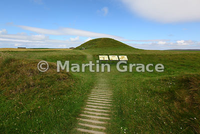 Maeshowe (Maes Howe) Neolithic chambered cairn and passage grave, West Mainland, Orkney