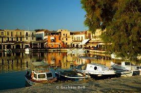 venetian harbour, rethymnon, crete, greece.