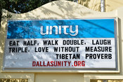 Unity Church in Dallas' Lower Greenville Avenue Neighborhood