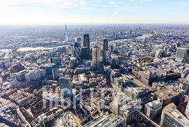 Aerial Photography overlooking the City of London, UK