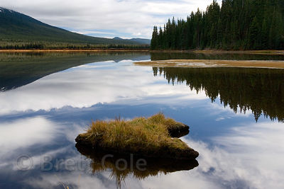 Reflections in Sparks Lake, Deschutes National Forest, Oregon.