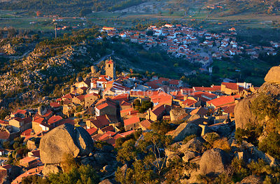 The medieval and historic village of Monsanto in the evening. Portugal
