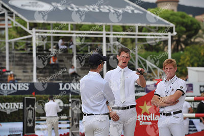 Daniel DEUSSER ,(GER), Marcus EHNING ,(GER) during Queen's Cup - Segura Viudas Trophy competition at CSIO5* Barcelona at Real Club de Polo, Barcelona - Spain