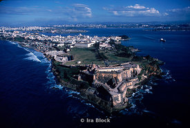 Aerial of Fort El Morro