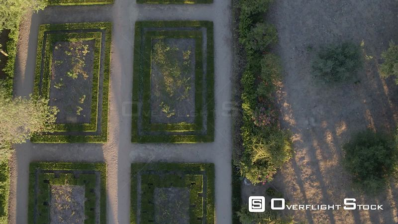 Knights of Templar. Mata Nacional dos Sete Montes Gardens in Tomar Drone Video Portugal