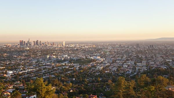Bird's Eye: A Subtle Sunset Reveal Of A Gold Stranded Los Angeles