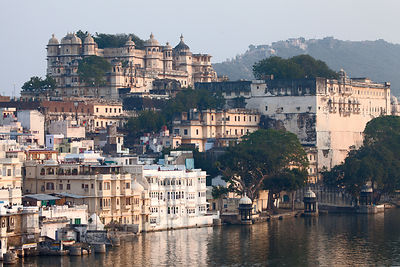 View of the Udaipur City Palace, Rajasthan, India