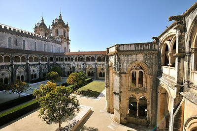 The cloisters of the Alcobaça monastery, a UNESCO World Heritage Site. Portugal