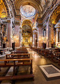 Nave of Santa Maria Madalena church, Rome
