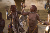 Hamer women dancing, Hamer Bull Jumping Ceremony, Turmi, South Omo Valley, Ethiopia