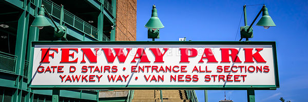 Fenway Park Sign Gate D Entrance Panorama Photo