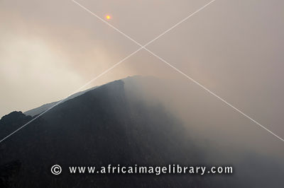 The rim of Nyiragongo Volcano, Virunga National Park, DR Congo