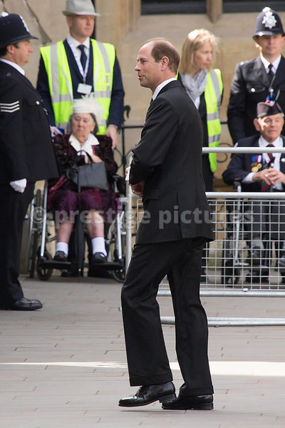 Prince Edward arriving at Westminster Abbey