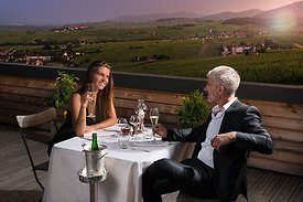 Couple take a dinner