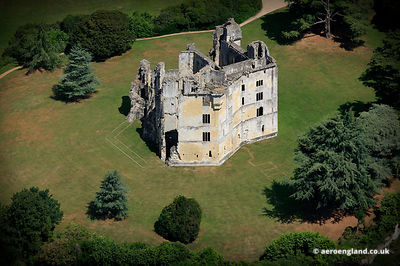 aerial photograph of Old Wardour CastleWiltshire England UK