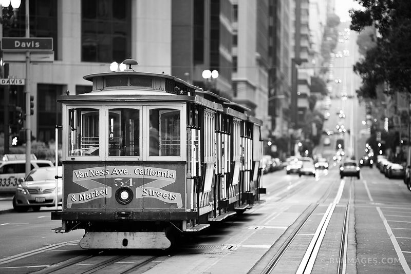 Street car san francisco black and white for Buy art san francisco