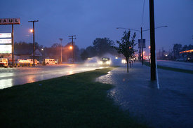 Flooding on Midlothian Turnpike at Labrook Drive from Hurricane Isabel