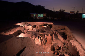 Night at the excavation site