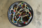 Beaded jewelry for sale at Cedi's Bead factory, Ghana