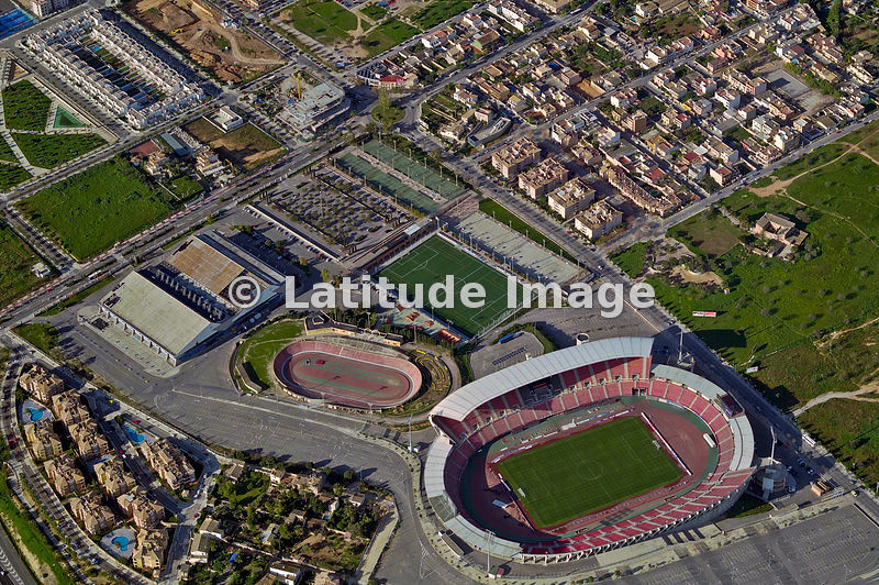 latitude image iberostar stadium son moix aerial photo. Black Bedroom Furniture Sets. Home Design Ideas