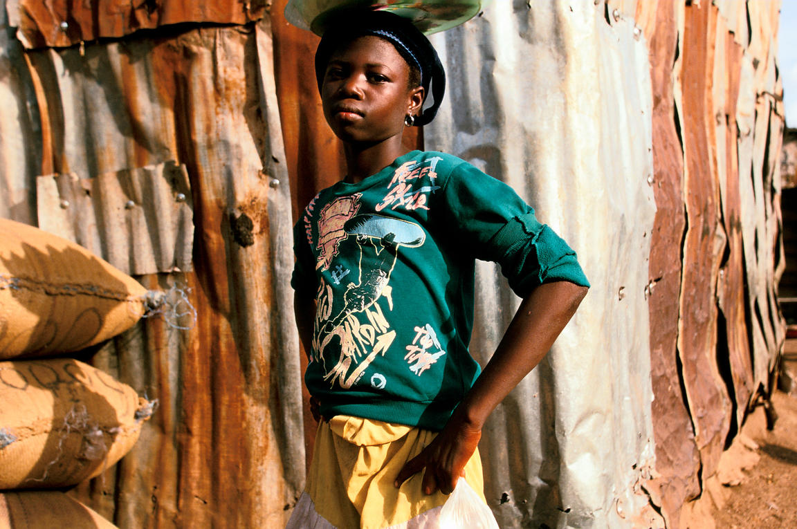 Ghana - Tamale - A street child who makes her living by selling produce