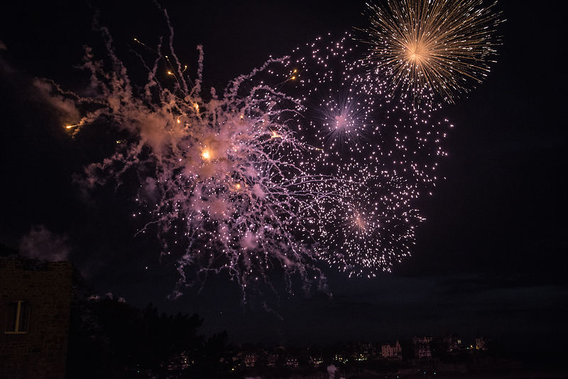feu artifice Dinard