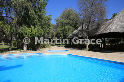 Swimming pool at Mokuti Safari Lodge, Etosha, Namibia