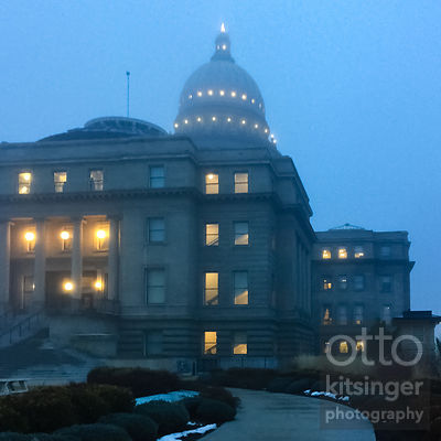 foggy morning at the capitol