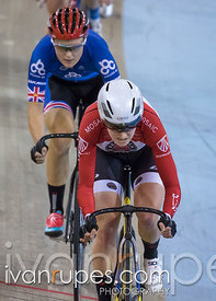 Women Omnium Scratch Race. Canadian Track Championships, Mattamy National Cycling Centre, Milton, On, September 25, 2016