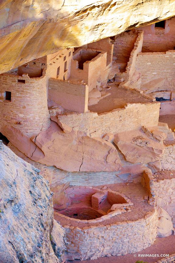 CLIFF PALACE MESA VERDE NATIONAL PARK COLORADO VERTICAL COLOR