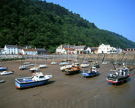 Minehead Harbour, Somerset.