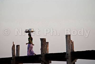 BURMA, AMARAPURA, U BEIN, BRIDGE AND TAUGTHMAN LAKE