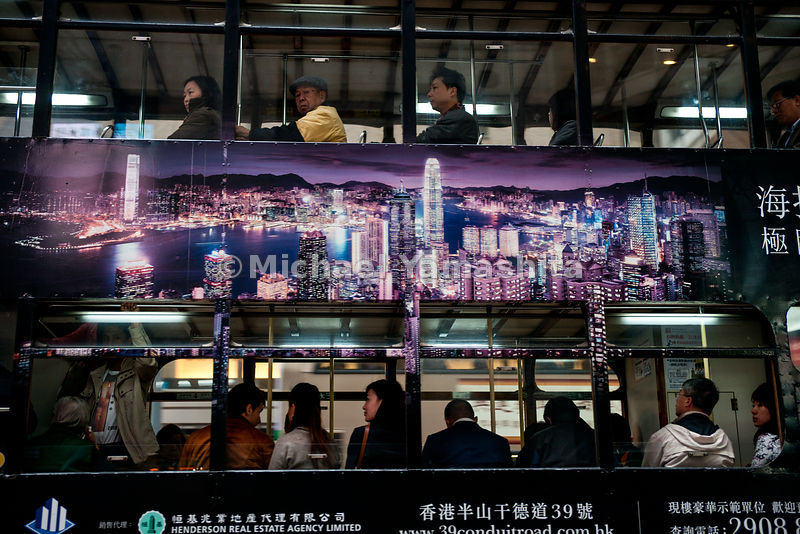 Hong Kong's Tramways, 118 trams, 6 lines, 30km, carries 240,000 passengers per day. Running since 1904. Operates from 5:30am till 12:30 am, speeds up to 60km, $2.00 per ride of any length make it HK's best travel bargain. Pics of Central.