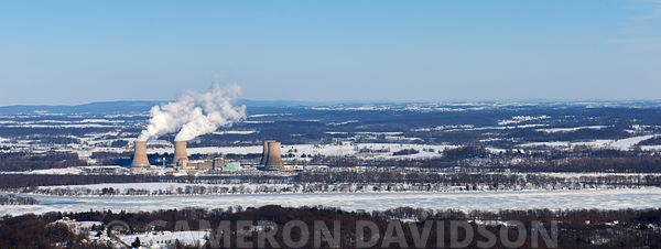 Aerial photogrpah of the Three Mile Island Power Station