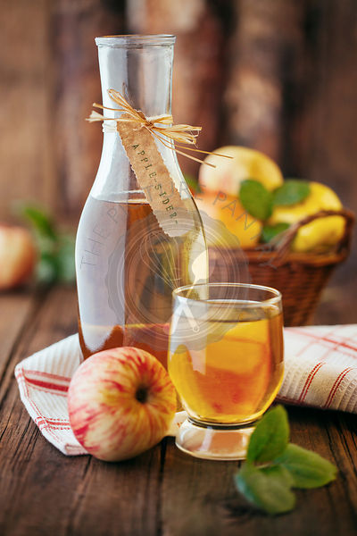 Homemade organic apple cider