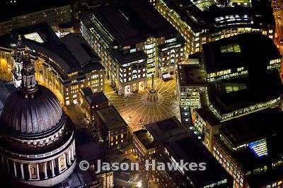 St Paul's Cathedral at night, London