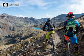 Mountain biking at Bormio3000. Italy.