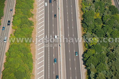 Aerial view of dual carriageway
