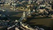Aerial footage of London