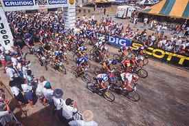 GENERAL VIEW - START YOUR ENGINES! THE  GRUNDIG MOUNTAIN BIKE WORLD CUP 1995 KICKS OFF AT CAIRNS, AUSTRALIA.