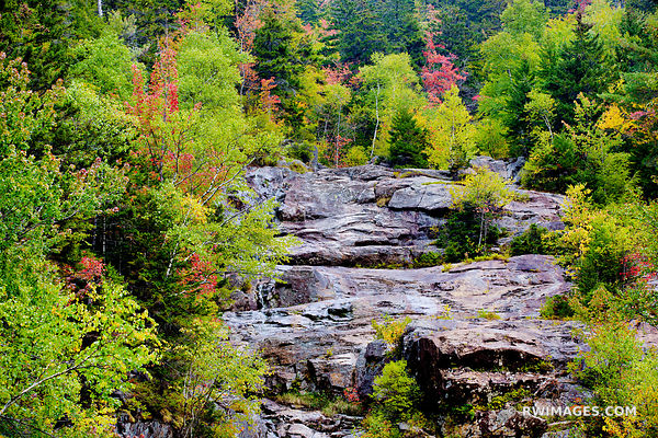CRAWFORD NOTCH STATE PARK WHITE MOUNTAINS NEW HAMPSHIRE FALL COLORS