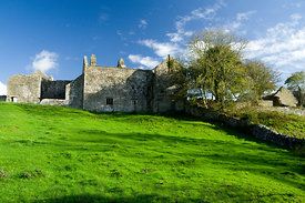Old Beaupre Castle, near Cowbridge, Vale of Glamorgan, South Wales.