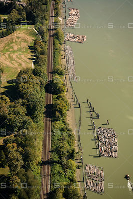 Railway Along the Fraser River Mission BC