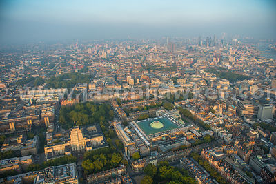 Aerial view of the British Museum, London