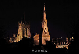 Dorchester Church Towers at Night