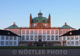 Sunset over Fredensborg Palace